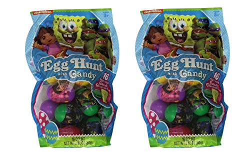 Nickelodeon Filled Easter Egg Hunt with Candy Mega Pack - 32 Eggs -