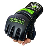 Auth. Rex Leather MMA Grappling Gloves Boxing Punch Bag UFC Gel Tech Muay Thai