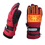 Kingwolfox Climbing Heated Gloves Battery Powered for Hiking Cycling,Camping,Hiking,Travel