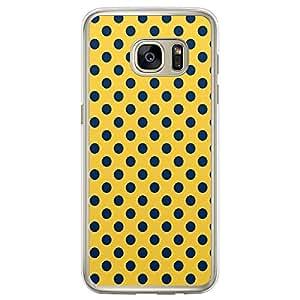 Loud Universe Samsung Galaxy S7 Edge 09 Polka Dot Transparent Edge Case - Yellow/Blue