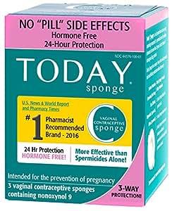 Amazon Com Today Sponge Vaginal Birth Control Green 3 Count