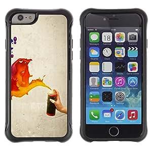Suave TPU GEL Carcasa Funda Silicona Blando Estuche Caso de protección (para) Apple Iphone 6 / CECELL Phone case / / Paint Spray Art Splash Orange Red Blue Wall /