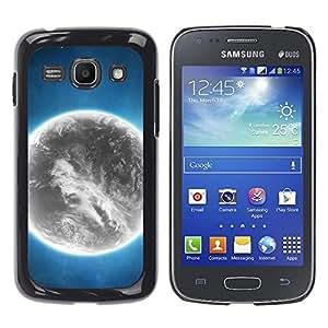 Qstar Arte & diseño plástico duro Fundas Cover Cubre Hard Case Cover para Samsung Galaxy Ace 3 III / GT-S7270 / GT-S7275 / GT-S7272 ( Grey Planet Alien World Art Bright Atmosphere)