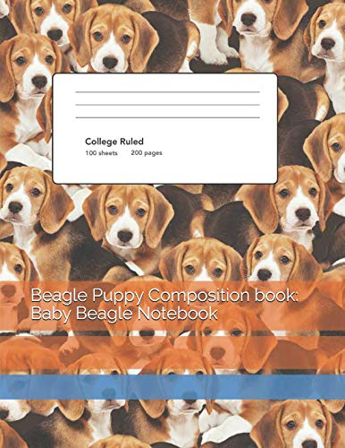 Beagle Puppy Composition book: Baby Beagle Notebook: for sale  Delivered anywhere in USA