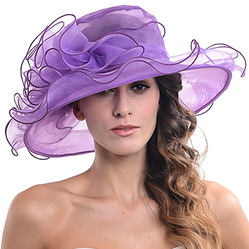 Fascinators Kentucky Derby Church Veil Dress Large Cocktail Party Hat S042