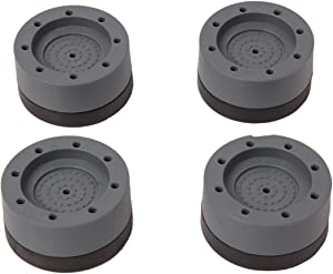 popokk 4PCS Shock and Noise Cancelling Washing Machine Support Anti Vibration Anti Slip Pads Washing Machine Foot Pads for Home Appliances