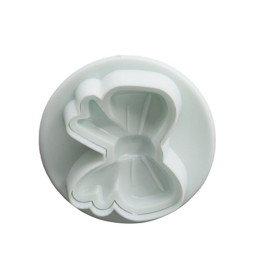 HSDDA 3/pcs N/œud Forme Fondant Emporte-pi/èces Sucre Craft Relief Cookie poussoirs