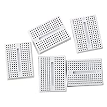 SODIAL(R) 5x ZY-170 Mini Solderless Prototype Breadboard for Arduino Shield White
