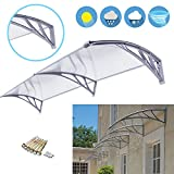 Super Deal 40''x 80'' Window Door Entry Awning Polycarbonate Cover Front Door Outdoor Patio Canopy Sun shetter, 3 Colors