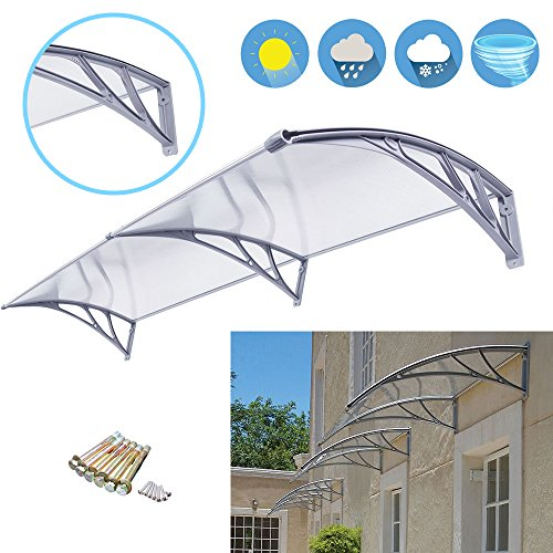 "Super Deal 40""x 80"" Window Door Entry Awning Polycarbonate Cover Front Door Outdoor Patio Canopy Sun shetter, 3 Colors"