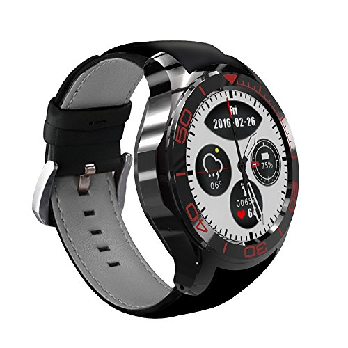3G Smart Watch App downlodable Bluetooth Smart Cell Phone with SIM Card Sync GPS WiFi Web Surf Heartrate Monitor Sport Pedometer Compatible Android Phone Huawei Samsung Xiaomi Google Sony LG 512M+8G