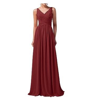 Bf Dress Vestido Corte Imperio Para Mujer Rojo Rojo Vino