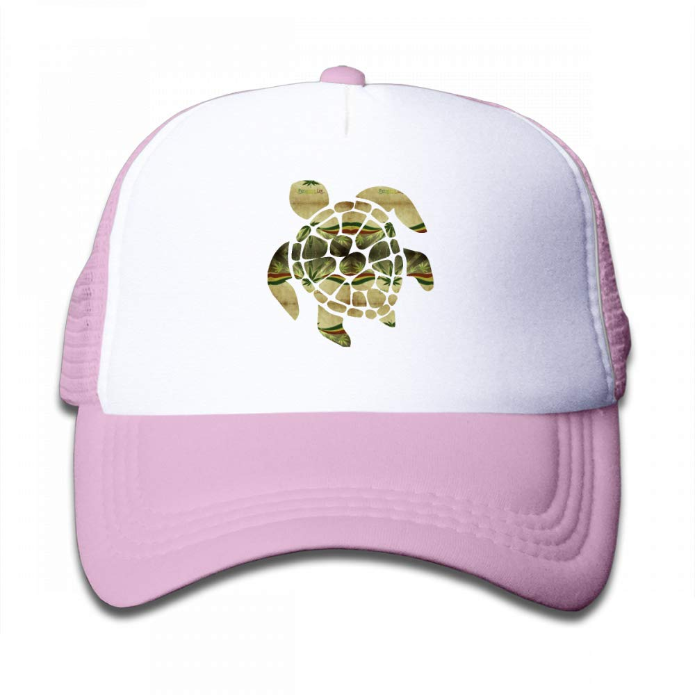 NO4LRM Kid's Boys Girls Marijuana Turtles Youth Mesh Baseball Cap Summer Adjustable Trucker Hat