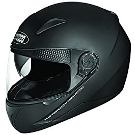 Studds SHIFTER Full Face Helmet with Tinted Visor (Matt Black, L)