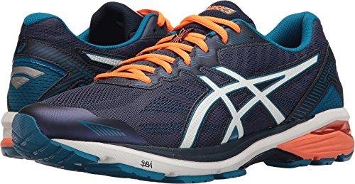 ASICS Men's Gt-1000 5 Running Shoe, Indigo Blue/Snow/Hot Orange, 12 M US