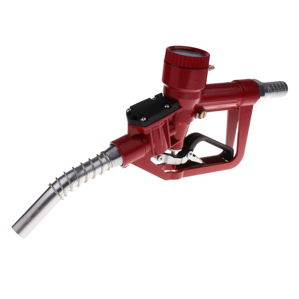 Homyl Car 1'' Thread Automatic Fueling Nozzle Gun with Digital Flow Meter - Red, 345x190x60mm by Homyl (Image #5)
