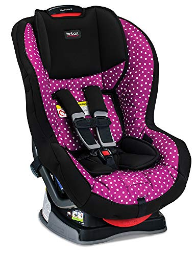 Britax Allegiance 3 Stage Convertible Car Seat - 5 to 65 Pounds - Rear & Forward Facing - 1 Layer Impact Protection, Confetti (Britax Pink Car Seat)