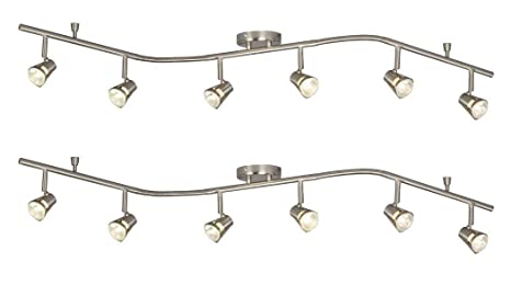 buy online 6c548 0c5b8 Galaxy Lighting 755596BN 6 Light Halogen Flexible Track Lighting (2 Pack)