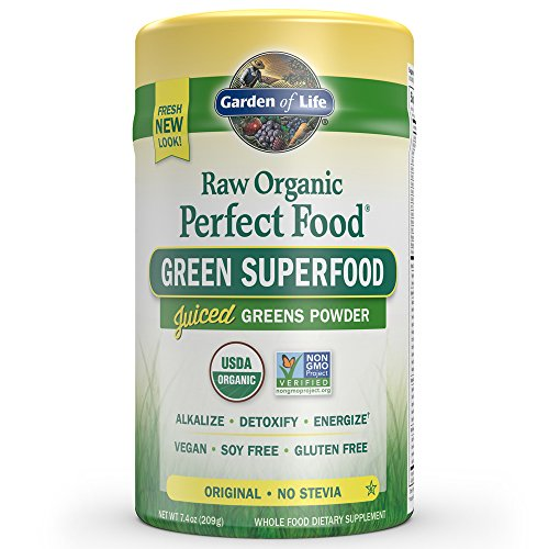 Garden of Life Vegan Green Superfood Powder – Raw Organic Perfect Whole Food Dietary Supplement, Original, 7.4oz (209g) Powder