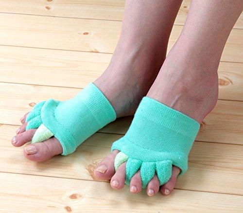 強化する優れました魔術師NEWふわふわ足指セパレータ 3色組