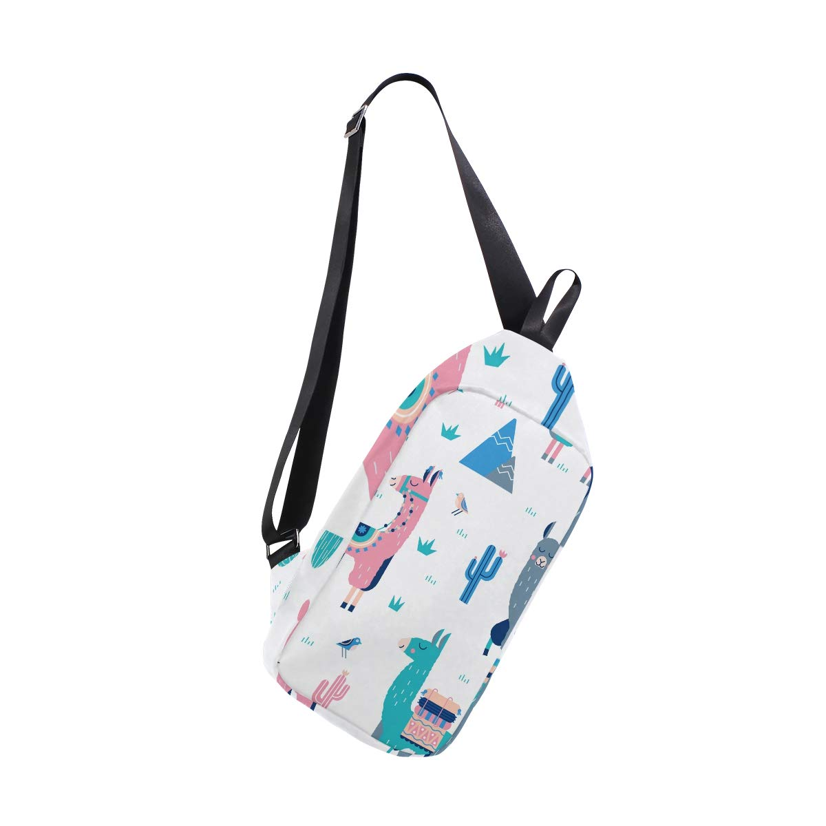 TFONE Cute Llama Crossbody Bag Lightweight Chest Shoulder Messenger Pack Backpack Sling Bag