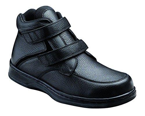 Orthofeet Glacier Gorge Comfortable Plantar Fasciitis Mens Extra Wide Depth Flat Feet Diabetic Velcro Boots