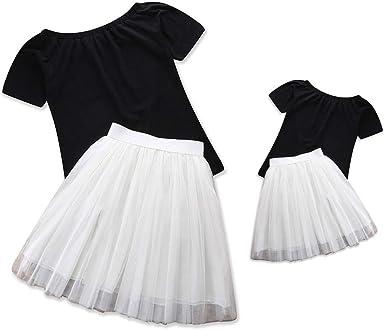 CAT1-RHD Madre e Hija Falda de Ballet a Juego, Vestido de Mamá y ...