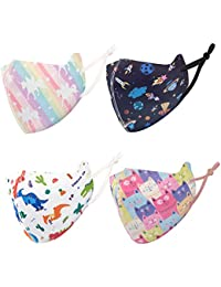 Kids Cloth Face Covering,Washable, Reusable, Multi Pack,UV Protection for Outdoor Activities