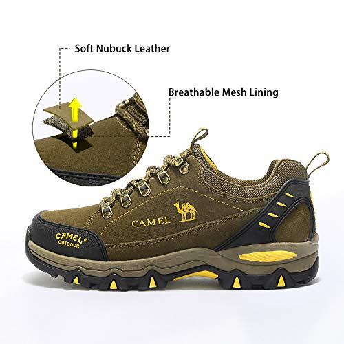 Zapatos de Caqui1 Escalada Alpinismo de Camel Hombres para Senderismo Zapatillas para Calzado Ante de 4qqOzwd