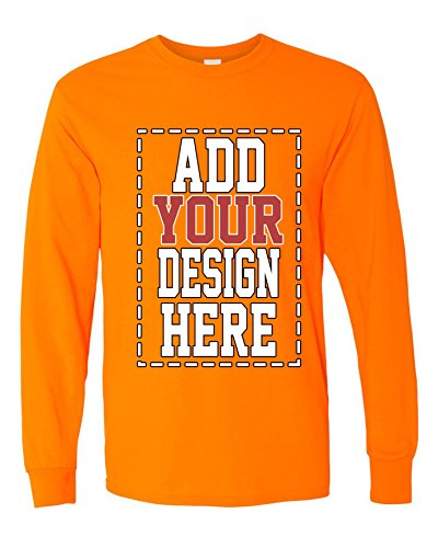(Custom Long Sleeve Shirts for Men - Make Your OWN Shirt - Add Your Design Picture Photo Text Printing )