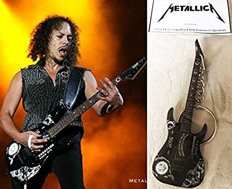 Llavero de guitarra Esp Ouija negro K. Hammett Metallica: Amazon ...