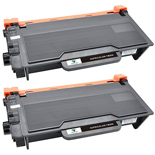 Supricolor TN850 Toner Cartridges High Yield, Work with DCP-L5500DN DCP-L5600DN DCP-L5650DN HL-L5000D HL-L5100DN L5200DW L5200DWT MFC-L5900DW Printers 2 Pack (2 Black).