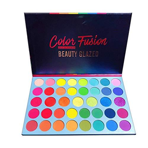 39 Shades Matte Shimmer Metallic Eye Shadow Pallet Long Lasting Bright Colorful Rainbow Eyeshadow Palette Color Fusion…