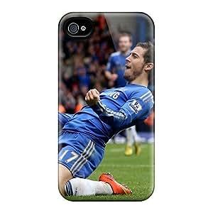 Premium Durable Chelsea Eden Hazard Won The Game Fashion Tpu Iphone 4/4s Protective Case Cover