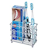 Weattec Premium Electric Toothbrush Holder, Stainless Steel Bathroom Toothpaste Holder, Multi-Functional Storage Organizer Stand, Ideal for Storage Toothbrush, Toothpaste, Cleanser, Comb, Razor