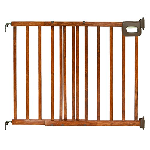 Summer Infant Deluxe Stairway Simple to Secure Wood Gate (Frame Solid 48')