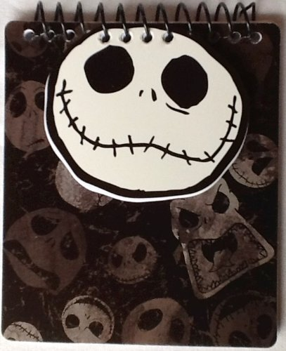 Tim Burton's The Nightmare Before Christmas! 20th Year Anniversary Notebooks, Notepads, Pens! Disney (COLOR 3) Jacks Head Fliptop Notebook) ()