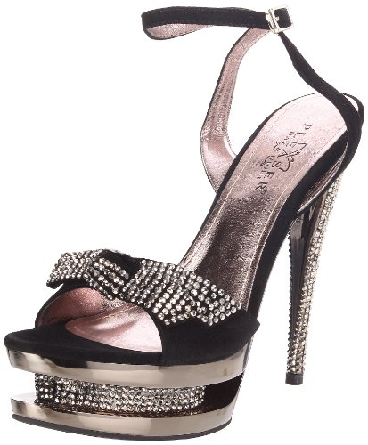 pewter Suede Donna amp; Day Blk Sandali Chrome Night Pleaser WBwAp0qH0
