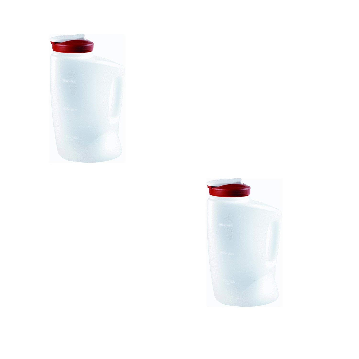 Rubbermaid COMINHKPR140279 (Red) 7E60 1-Gallon Pitcher (2-Pack), 1 Gallon