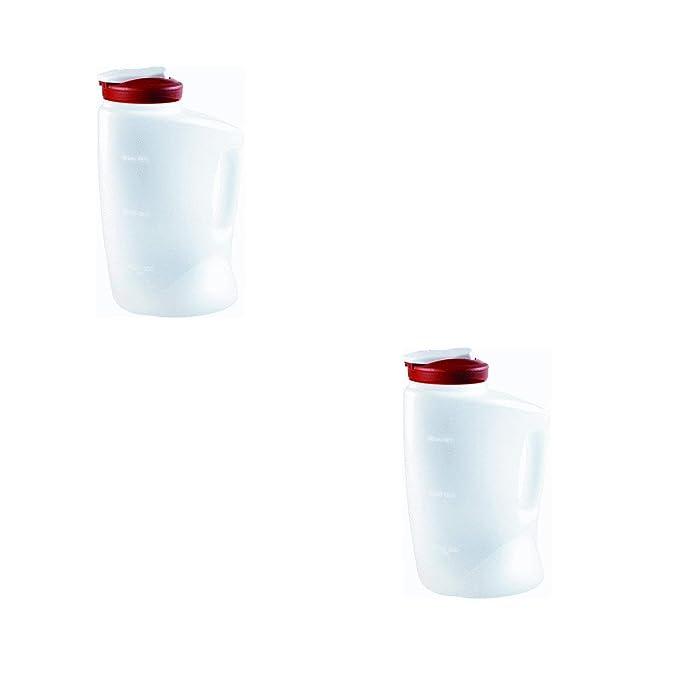 Rubbermaid COMINHKPR140279 (Red) 7E60 1-Gallon Pitcher (2-Pack), 1 Gallon