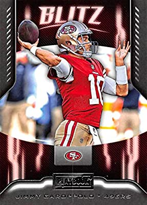 f06483be356 2018 Playbook BLITZ Football  12 Jimmy Garoppolo San Francisco 49ers  Official NFL Retail Insert Card made by Panini