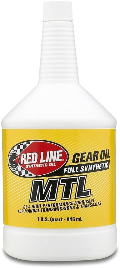 Red Line (50204) SAE 75W80 API GL-4 Manual Transmission and Transaxle Lubricant - Car Gear Oil - 1 Quart Bottle
