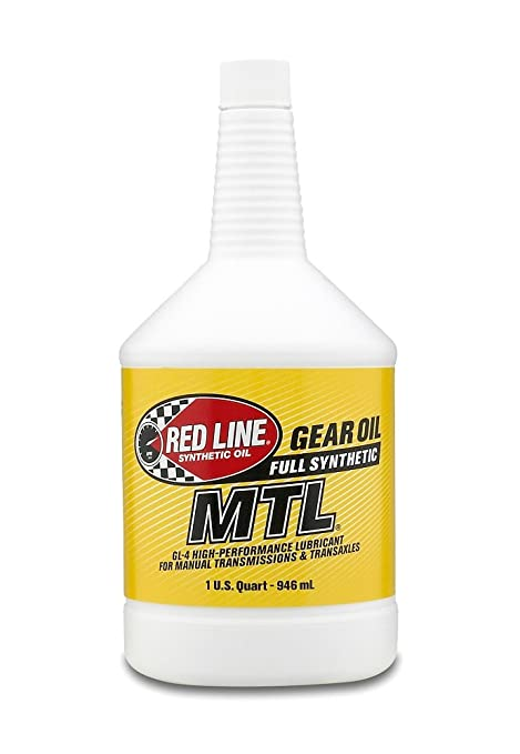 Red Line 50204 Sae 75w80 Api Gl 4 Manual Transmission And Transaxle Lubricant Car Gear Oil 1 Quart Bottle
