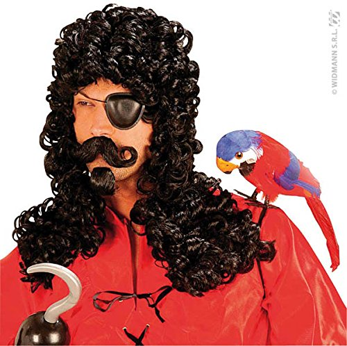 Adult's Black Captain Hook (Hook Wig)