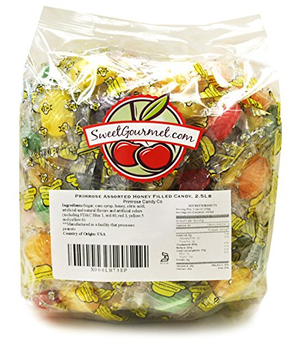 Sweetgourmet Primrose Hard Candy Assorted Filled Honey Queen Bees, 2.5 Lb]()