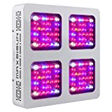 MAXSISUN M400 128x3W 12-band LED Grow Light – Dual Switches Full Spectrum with Secondary Optics Lens for Indoor Plants Veg and Bloom Review