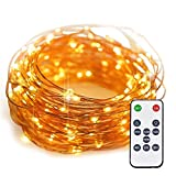 Starry String Lights Copper Wire Fairy Lights with Remote YIHONG 33 Feet 100 LED String Lights Dimmable For Wedding Christmas Bedroom Indoor Outdoor Decoration