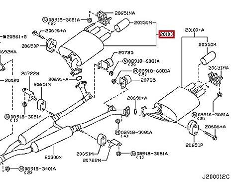 Amazon Com Infiniti 20100 Ej80a Exhaust Muffler Automotive
