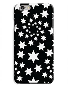 Black and White Star Spiral iPhone 6 Case