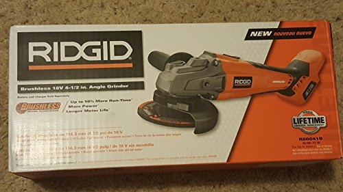Ridgid brushless 18v 4-1/2in. Angle Grinder